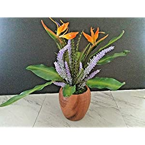 Silk Flowers. Mini Bird of Paradise Table Decoration Get 1 – Artificial Flowers #FWB01YN