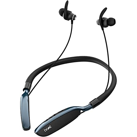 boAt Rockerz 385v2 Bluetooth Neckband with Qualcomm® aptx & CVC, Upto 40 Hours Battery, ASAP Charge, IPX6 Rating and Dual Pairing(Active Black)