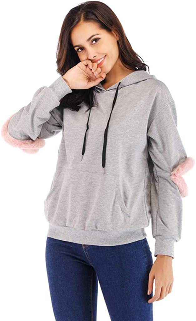 Hoodies for Teen Girls, Misaky Autumn & Winter Casual Solid Colors Holes Long Sleeve Pocket Hooded Pullover Tops