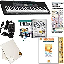 Homeschool Music - Piano Pack (Hallelujah) – W/Casio CTK 2550 Keyboard, Adapter, learn 2 Play DVD/Book, The Best of Children's Classic Piano Vol. 1 & All Learning Essentials