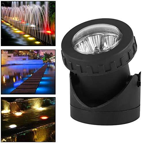 Onderwaterverlichting LED-zonne-energie, 18LED zonne-energie Triple Head Outdoor Garden Landscape Spot Light Underwater Light - LED Underwater Light Clear Lens Pontoon Marine/Boat(kleur)