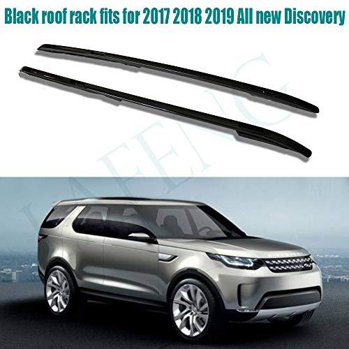 LAFENG Baca de techo negra compatible con Land Rover 2017 2018 2019 todos los nuevos Discovery 5th L462 de aleación de aluminio portaequipajes rieles de techo