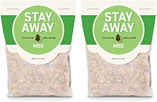 Stay Away Mice Repellent Pest Control - All Natural, Repels Mice with No Mess, and Environmentally Friendly, 2 Scent Pouches (Not for Sale in DC, NM, MS, CT, ME, SD, in, PR)