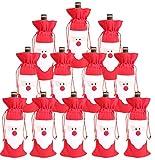 Bolsas de vino de Papá Noel con cordón para decoración de mesa de fiesta de Navidad (paquete de 12)