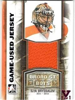 2011-12 ITG Broad Street Boys Game-Used Jerseys #M10 Ilya Bryzgalov From the Vault Jersey Card Serial #1/1 - Philadelphia Flyers