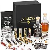 Vtarcza Gin Set Gin zum Selbermachen Gin Baukasten Gin & Cocktails Set, DIY Gin Set 12 Gin Gewürze Bar Trichter Anleitung mit Rezept, Gin Geschenkset für Hause, Geschenk für Männer und Frauen
