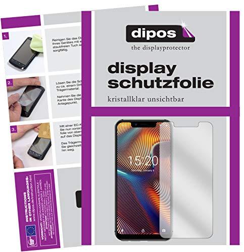 dipos I 2X Schutzfolie klar kompatibel mit Umidigi A3 Pro (2018) Folie Bildschirmschutzfolie
