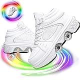 Patines, Zapatos con Ruedas, Zapatos automáticos para Caminar, Zapatos con Ruedas, Zapatillas con Ruedas, Zapatos con polea Invisible, Patines, para Regalo Unisex para Principiantes, 42