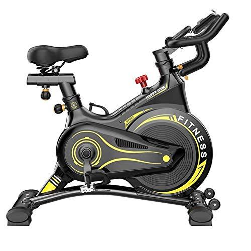LMZZGAOYANQING Bicicleta Ciclismo Interior Bicicleta estacionaria Máquina de Entrenamiento de Cardio Ideal con Pantalla LCD | Titular del iPad Equipo de Gimnasio para el hogar Adecuado para Todos.