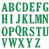 Oksea 5 cm Große Große Alphabet Buchstaben Stanzformen Schablonen Metall für DIY Scrapbooking DIY Prägestempel (Silber)