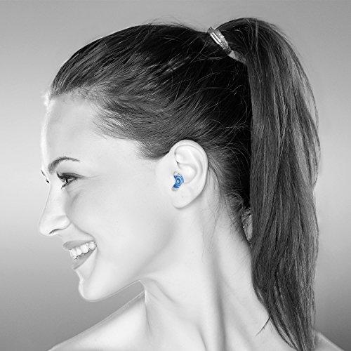 Senner MusicPro Gehörschutz Ohrstöpsel mit Lamellen im Alubehälter – Ideal für Musik, Konzert, Disco und Festival, clear/transparent - 2
