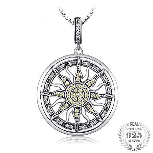 Dfgh JewelryPalace HemelZon 925 sterling zilver zirconia Charm Verklaring hanger ketting vrouwen sieraden zonder een Chain (Metal Color : DC318099)