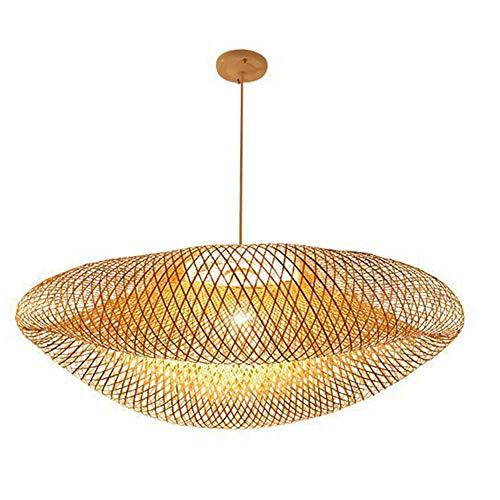 DWS Nordic Designer Bambus Weben Lampe Käfig Pendelleuchte Kreative Rattan, der Vogelnest Kronleuchter, E27 Bar Cafe Bambus Weben Lichter 220 v,80cm