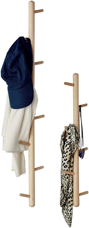 JIANFEI Wall Mounted Coat Rack Hanger Clothes Hat Multiple Hooks Tree 2 Packs, Wood