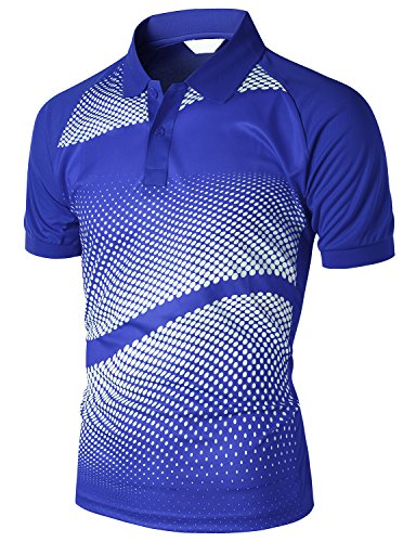 Xpril Men's Cool Max Fabric Sporty Design Printed Polo T-Shirt