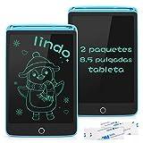 SUNLU Tableta de Escritura LCD 8.5 Pulgadas, Tablet Niños con Bloqueable Botón Borrado, Pizarra Digitalac con Adhesivo, 2 Paquetes, Azul