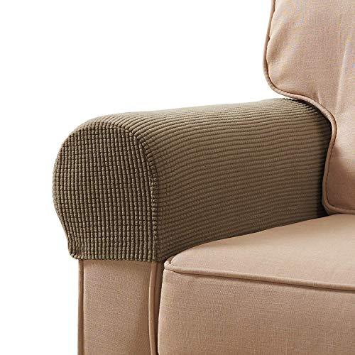 HOTEU 1 Paar Spandex Arm Caps für Sessel Sofa Arm Covers Stretchy Armlehnenbezug Paar Möbel Protector Armlehnenbezüge Stretch Stuhl Sofa Arm Protectors