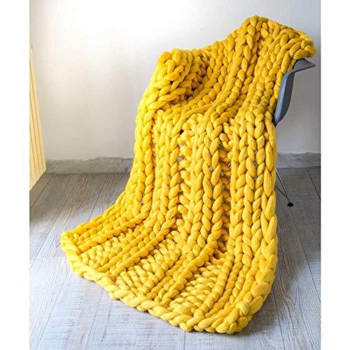ZCXBHD Enorme gebreide deken, grof, knuffeldeken, wollen deken, sprei, deken, woondecoratie, geschenk