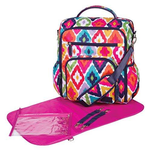 Trend Lab French Bull Convertible Backpack Diaper Bag, Kat