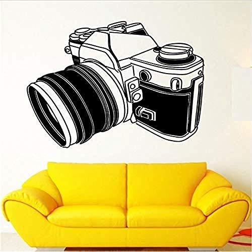 Cámara Fotografía Fotografía Cartel Etiqueta de la pared Diseño de arte Tatuajes de pared Hogar Sala de estar Dormitorio Decoración Mural Etiqueta de vinilo extraíble 58 * 66 cm