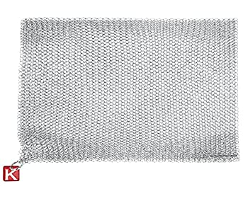 """Knapp Made Chainmail Dishcloth 7""""x5"""" - Top Rated All Purpose Kitchenware Pots & Pans Cleaner - Lasts a Lifetime"""