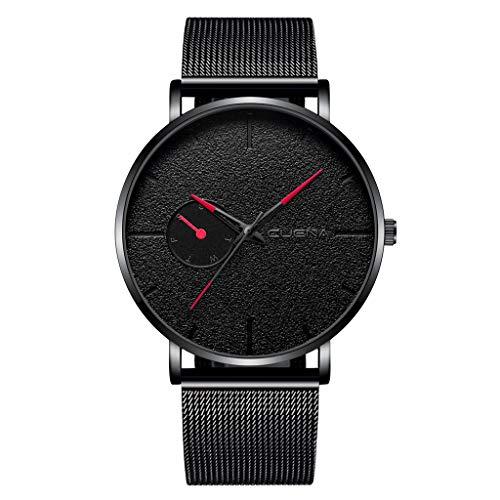 LYRICS Herren Günstige Armbanduhr Analog Display Quarz Diamant Uhren Mit Stilvolle Metallarmband gewölbtem Glas Uhr Kreative Gedrucktes Muster Design Uhr Bauhaus-Stil Watch