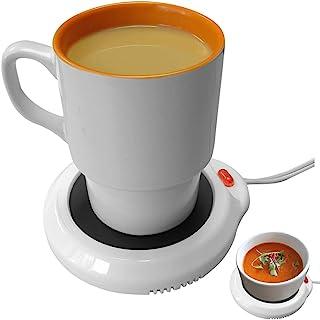 Evelots Desktop Electric Mug Warmer-Coffee/Tea/Cocoa/Soup-Scented Candles-Hot