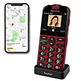 Easyfone Prime-A4 GPS Localisation Unlocked Smart Senior Cell Phone, Big Button Hearing Aids