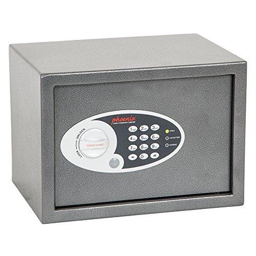 Phoenix SS0301E Tresor, Metall, grau, klein