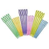 "Plastic Sewing Needles 30pcs, Cutelec 15Pcs 3.5"" Colorful Large Eye Crafts Kniting Needles"