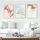 Domrx Gemälde Japan Stil Kirschblüten Tempel Frühling