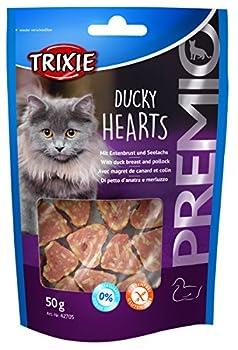 TRIXIE Premio Hearts Canard/Colin pour Chat 50 g