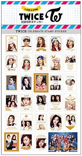 TWICE 記念 切手 シール ステッカー (Celebrate Stamp Sticker) [29ピース] グッズ