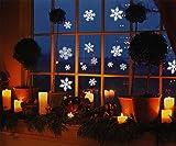 R N' D Christmas Snowflakes Window Clings- White...