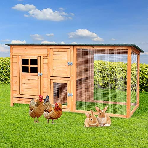 BRAST Clapier lapin exterieur xxl poulailler 2 poules...