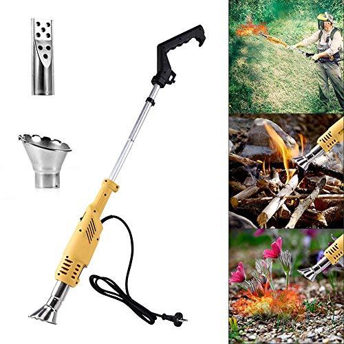 ZDYLM-Y 2 en 1 Quemador de Herbicidas, 2000W Función Gradas, Herbicida térmico deshierbe Stick, hasta 600 ℃, Herramientas de jardín