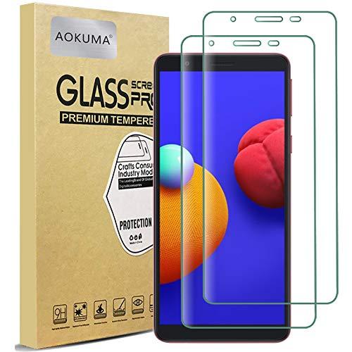 AOKUMA Vetro Temperato Samsung Galaxy M01 Core, [2 Pezzi] Pellicola Protettiva Samsung Galaxy M01 Core Vetro Temperato Antiurto AntiGraffio e Anti-Impronta, Durezza 9H, Compatibile con Cover