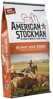 North American Salt 41005 American Stockman Hi-Salt with Eddi Pet Supplement, 50-Pound