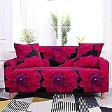 WXQY Sala de Estar Funda de sofá elástica con Estampado Floral Todo Incluido Funda de sofá de Esquina en Forma de L Funda de sillón Funda de sofá A9 2 plazas