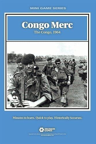 DG  Congo Merc, the Congo 1964, Board Game by Decision Games