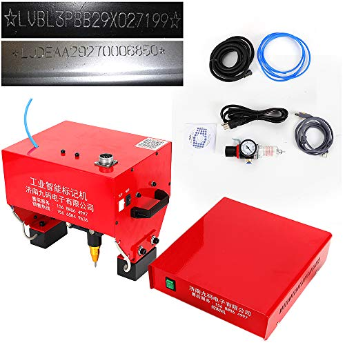 Review Marking Machine, 110V Pneumatic Portable Dot Peen Marking Machine Metal Lettering Drill Milling Machine Engraver Cutting Machine for VIN Code, Chassis Number Kit, USA STOCK