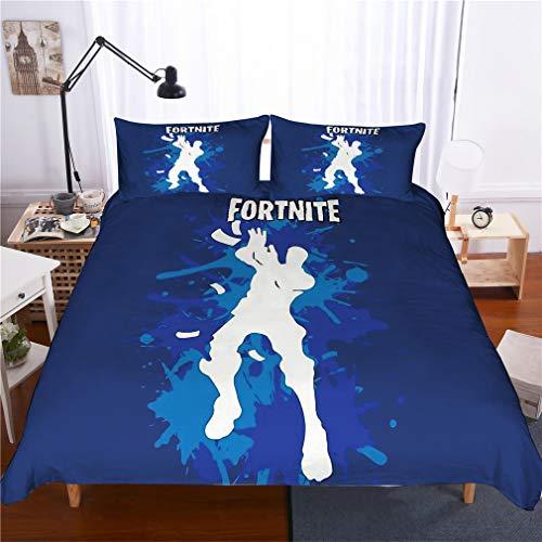 Juego de ropa de cama con 2 fundas de almohada, diseño de héroes impresos en 3D de la Reina de la Batalla Fortinita (3 piezas), Style16, Queen