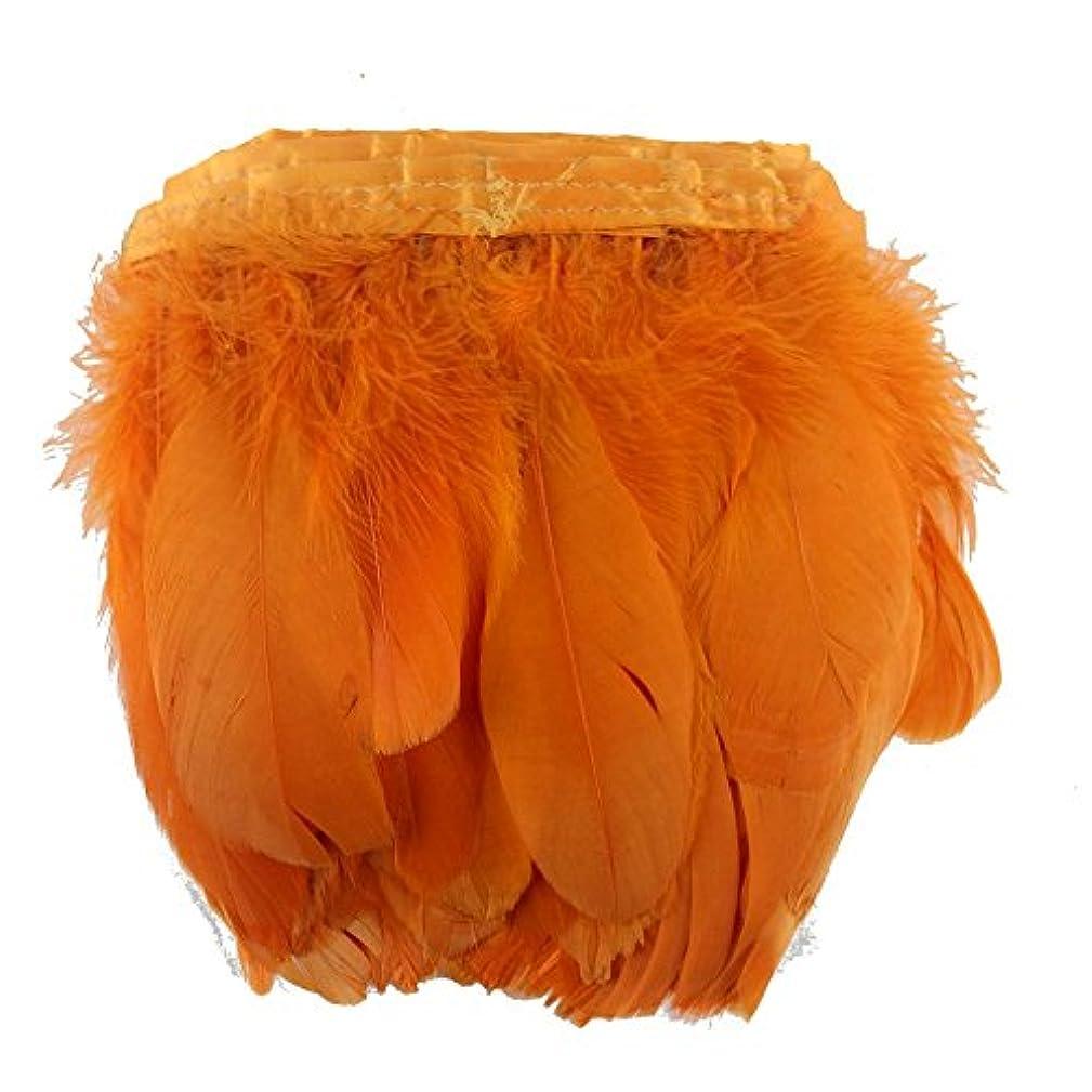 Sowder Orange Duck Goose Feather Trim Fringe 2 Yards