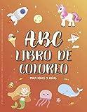 ABC Libro de Coloreo para Niños y Niñas de 4 a 8 años. Actividades preescolares, Aprendizaje del alfabeto