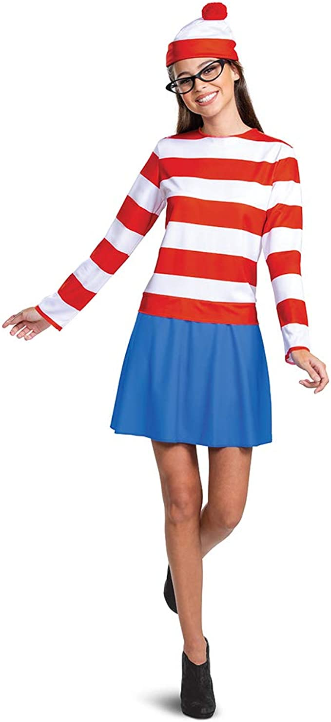 90s Clothing Outfits You Can Buy Now Wheres Waldo Adult Classic Wenda Costume  AT vintagedancer.com