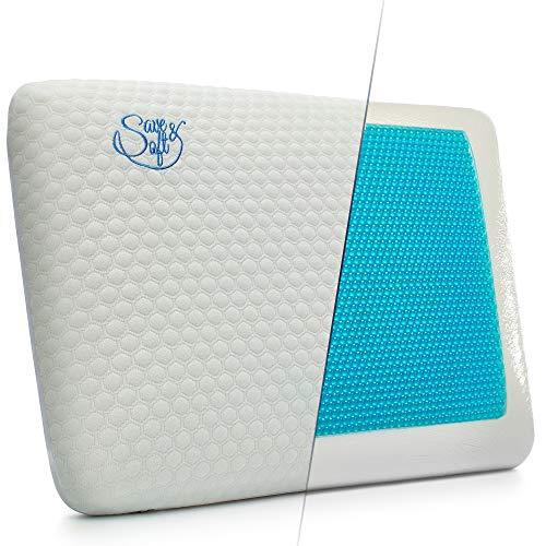 SAVE SOFT Gel Memory Foam Pillow For Men Women - Cooling Ergonomic...