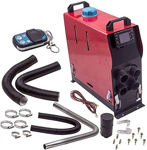 XRYM Bajo Nivel de Ruido Diesel Calentador de Aire, 5 kW 12V / 24V del Monitor LCD del Mando a Distancia de Control - for Camiones, autocaravanas, Coches, autobuses, Barcos 115 (Color : 24V)
