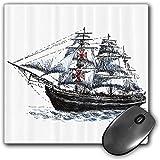 Mouse Pad Gaming Funcional Conjunto de apartamentos Alfombrilla de ratón gruesa impermeable para escritorio Navegación a bordo de un barco viejo de Columbus en el imaginario Viaje del Océano Atlántico