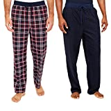 Nautica Men's Sueded Fleece Pajama Pants 2 Pack (L, Red) by Nautica