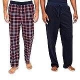 Nautica Men's Sueded Fleece Pajama Pants 2 Pack (M, Red)